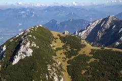 Facendo un'escursione nelle alpi bavaresi, la Germania Fotografia Stock