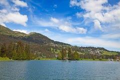 Facendo un'escursione nelle alpi svizzere Immagini Stock Libere da Diritti
