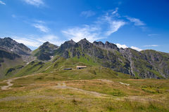 Facendo un'escursione nelle alpi svizzere Fotografie Stock Libere da Diritti