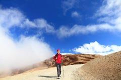 Facendo un'escursione in nubi Fotografia Stock Libera da Diritti