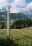 Facendo un'escursione in Savoia Immagini Stock
