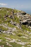 Facendo un'escursione sopra il Mt mansfield Immagini Stock Libere da Diritti
