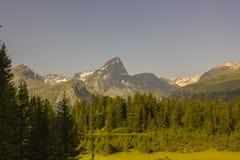 Facendo un'escursione su Alp Flix Immagine Stock Libera da Diritti