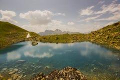 Facendo un'escursione su Alp Flix Fotografie Stock