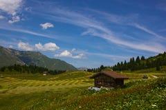 Facendo un'escursione su Alp Flix Fotografia Stock Libera da Diritti