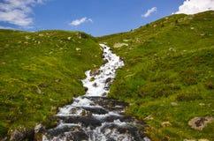 Facendo un'escursione su Alp Flix Fotografie Stock Libere da Diritti