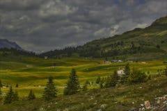 Facendo un'escursione su Alp Flix Immagini Stock Libere da Diritti