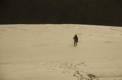 Facendo un'escursione su Vallee Blanche Immagine Stock