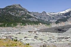 Facendo un'escursione vicino al ghiacciaio Avventura in San Carlos de Bariloch Immagini Stock