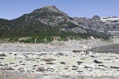 Facendo un'escursione vicino al ghiacciaio Avventura in San Carlos de Bariloch Fotografia Stock Libera da Diritti