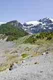 Facendo un'escursione vicino al ghiacciaio Avventura in San Carlos de Bariloch Fotografie Stock Libere da Diritti