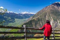 Facendo un'escursione in Vinschgau Fotografia Stock Libera da Diritti