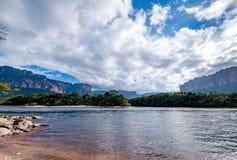 Facendo un giro turistico alla grande savana, il Venezuela Fotografie Stock