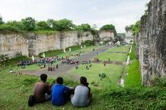 Facendo un giro turistico in Bali, l'Indonesia Corsa Fotografie Stock Libere da Diritti