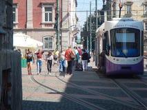 Facendo un giro turistico in Timisoara, la Romania fotografia stock