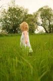 Facendo una passeggiata attraverso l'erba lunga Immagine Stock Libera da Diritti