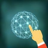 Facendo uso di tecnologia moderna di web Immagine Stock Libera da Diritti
