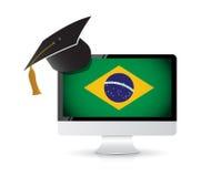 Facendo uso di tecnologia per imparare la lingua portoghese illustrazione di stock