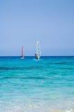 Facendo windsurf a Leucade Fotografia Stock Libera da Diritti