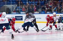 Faceoff Royalty Free Stock Photo