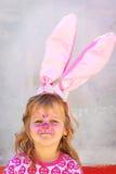 facepaint пасхи ребенка зайчика Стоковые Изображения RF