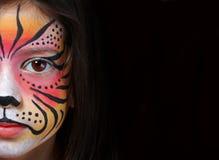 Facepaint della tigre Immagini Stock