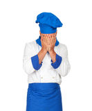 Facepalm chef stock photography