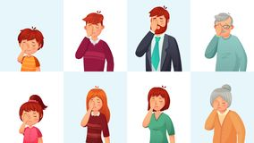 Free Facepalm Gesture. Disappointed People Embarrassed Faces, Hide Face Behind Palm And Shame Gestures Cartoon Vector Stock Photography - 138923212