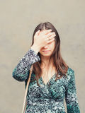 Facepalm girl Royalty Free Stock Photo