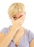 Facepalm royalty free stock photography