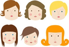 Faces Royalty Free Stock Photo