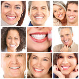 Faces. Of smiling people. Teeth care. Smile Royalty Free Stock Images