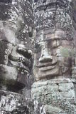 Faces. At Bayon Temple in Siem Reap near Angkor Wat stock image