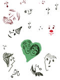 Faces Imagens de Stock Royalty Free
