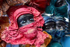 Faces. Traditional African leather masks Royalty Free Stock Photos