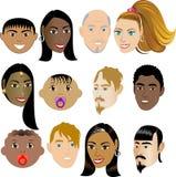 Faces 4 dos povos Imagens de Stock