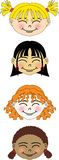 Faces Imagem de Stock