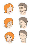 Faces. Expressions of faces vector illustration
