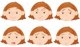 Faces royalty free illustration