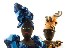 Faces of African dolls Stock Image