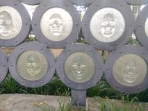 Faces of aides monument new orleans Louisiana royalty free stock photo