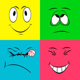Faces alegres do smiley Foto de Stock