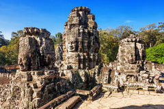 Faces of ancient Bayon Temple At Angkor Wat Royalty Free Stock Images