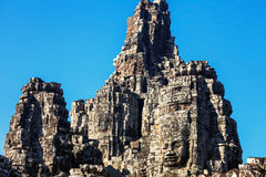 Faces of ancient Bayon Temple At Angkor Wat Royalty Free Stock Photo