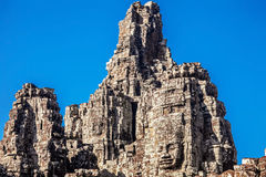 Faces of ancient Bayon Temple At Angkor Wat Stock Image