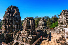 Faces of ancient Bayon Temple At Angkor Wat Royalty Free Stock Image