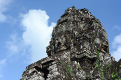 Faces of ancient Bayon Temple Royalty Free Stock Images