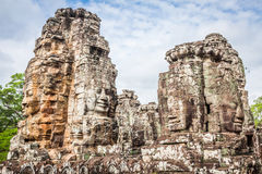 Faces of ancient Bayon Temple At Angkor Wat, Siem Reap, Cambodia Stock Images