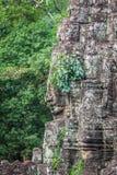 Faces of ancient Bayon Temple At Angkor Wat, Siem Reap, Cambodia Royalty Free Stock Photos