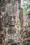 Faces of ancient Bayon Temple At Angkor Wat, Siem Reap, Cambodia Stock Photo